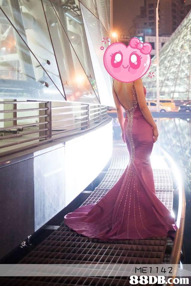 ME1 142   pink,purple,dress,girl,