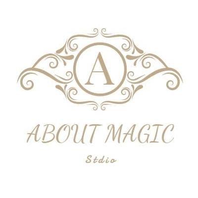 べ0% ABOUT MAGIC Stdio  text,font,logo,product,line