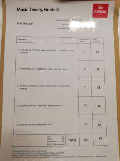 Music Theory, Grade 8 ABRSM,text,material,