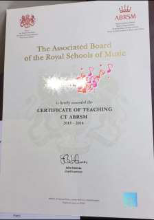 ABRSM The Associated Boarc of the Royal Schools of Mrie CERTIFICATE OF TEACHING CT ABRSM,text,font,academic certificate,diploma,paper