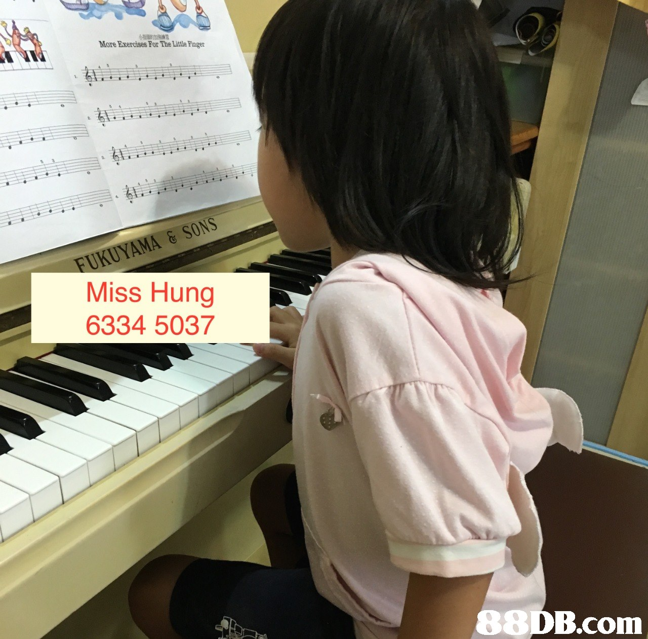 More Exercises For The Little Finger FUKUYAMA& SONS Miss Hung 6334 5037 88DB.com  piano