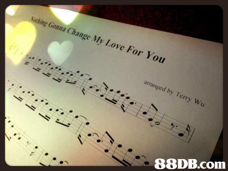 Nothing Gonna Change My Love arranged by Terry Wu   music,text,sheet music,font,