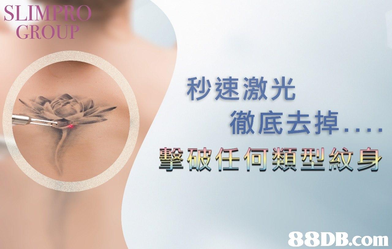 SLIMPRO GROU 秒速激光 徹底去掉 型纹身   skin,chin,eyelash,joint,shoulder