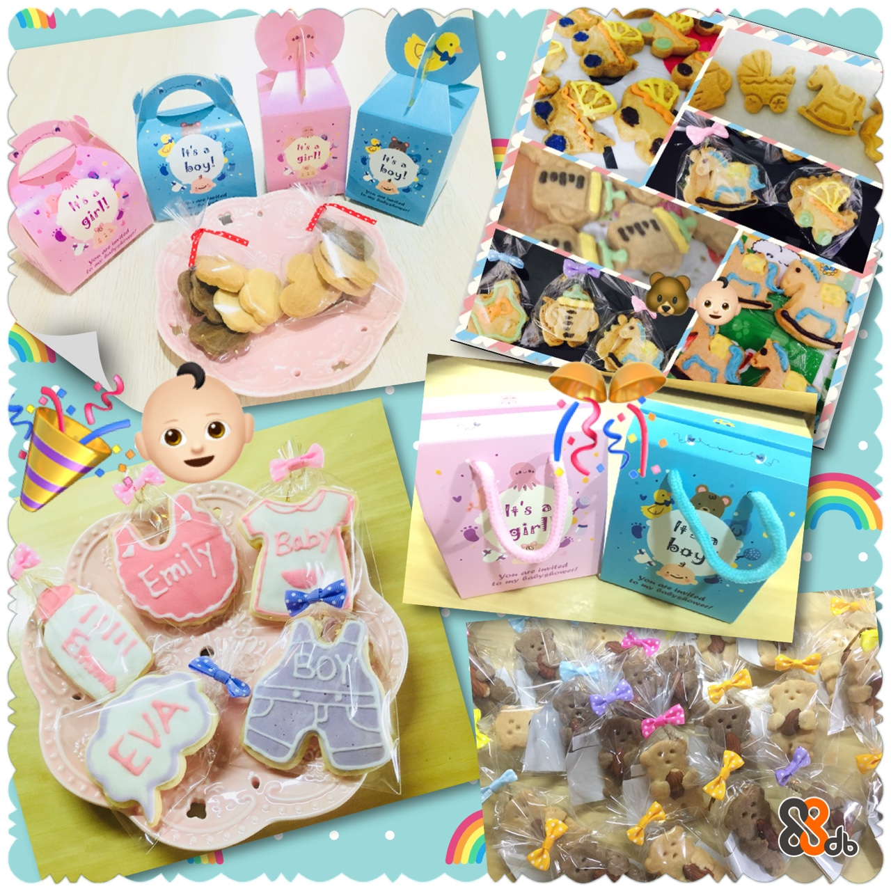 girl! oy boy! 9 ts a Bab  baking,toy,product,snack,food
