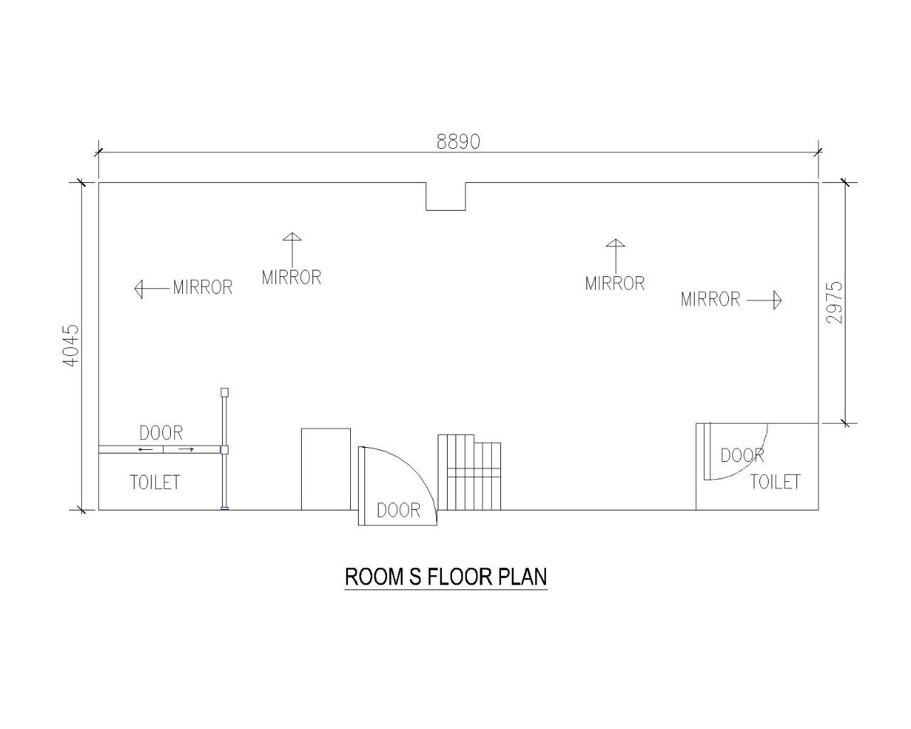 8890 -MIRROR MIRROR MIRROR MIRROR CN LLO DOOR DO TOILET TOILET DOOR ROOM S FLOOR PLAN  text