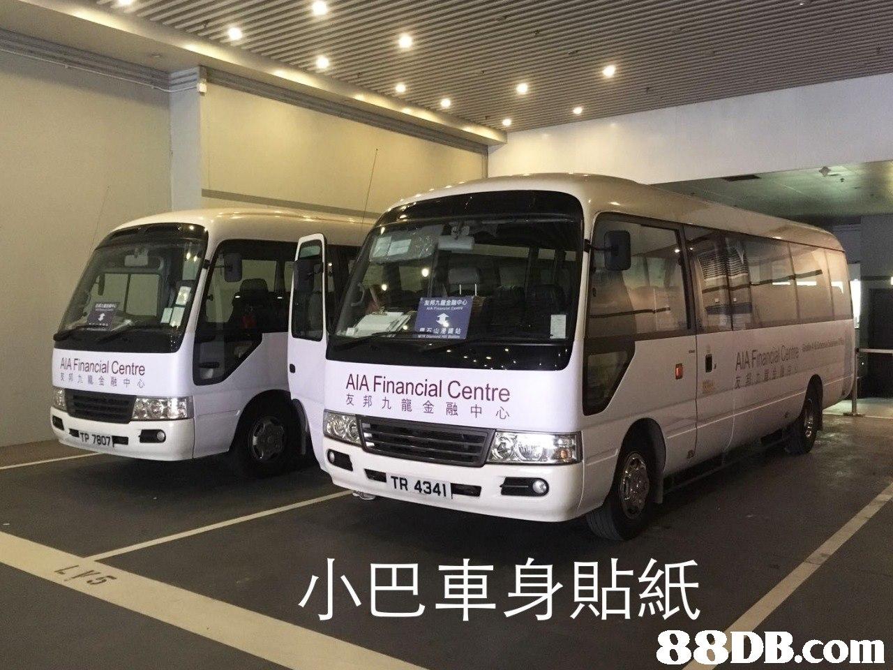 AIA Financial Centre 友邦九龍金融中心 友邦71金融中心 小巴車身貼紙   Land vehicle,Vehicle,Bus,Transport,Mode of transport