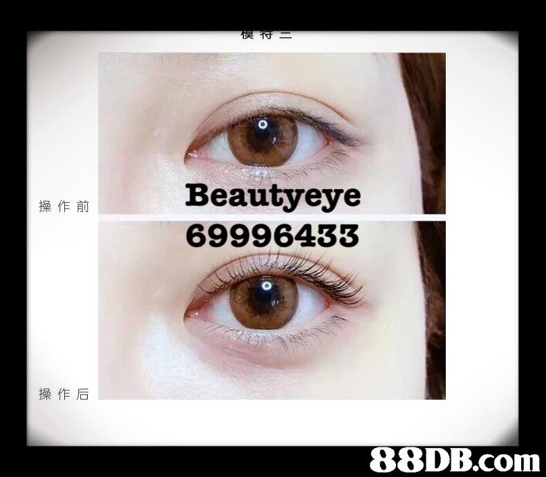 Beautyeye 69996433 操作前 操作后   eyebrow,eyelash,eye,forehead,close up