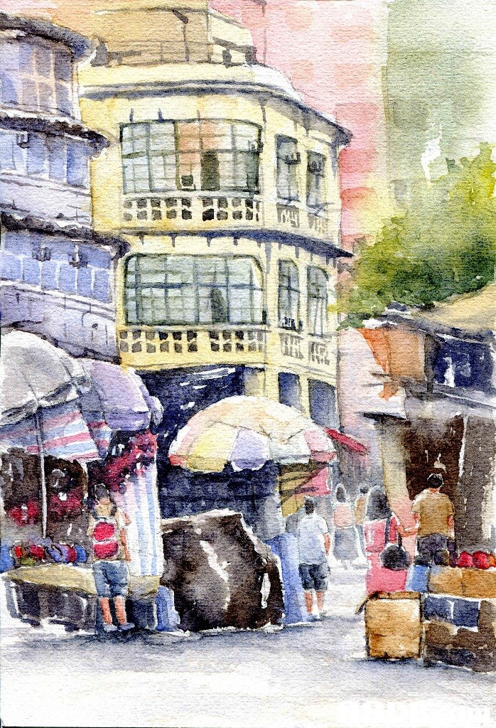 watercolor paint,painting,town,paint,water