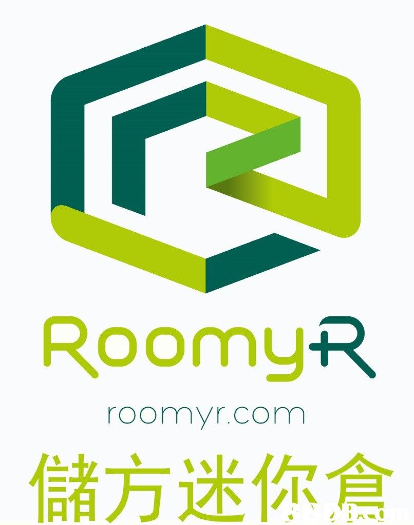 RoomyR roomyr.com 儲方迷你倉  green,text,font,logo,line