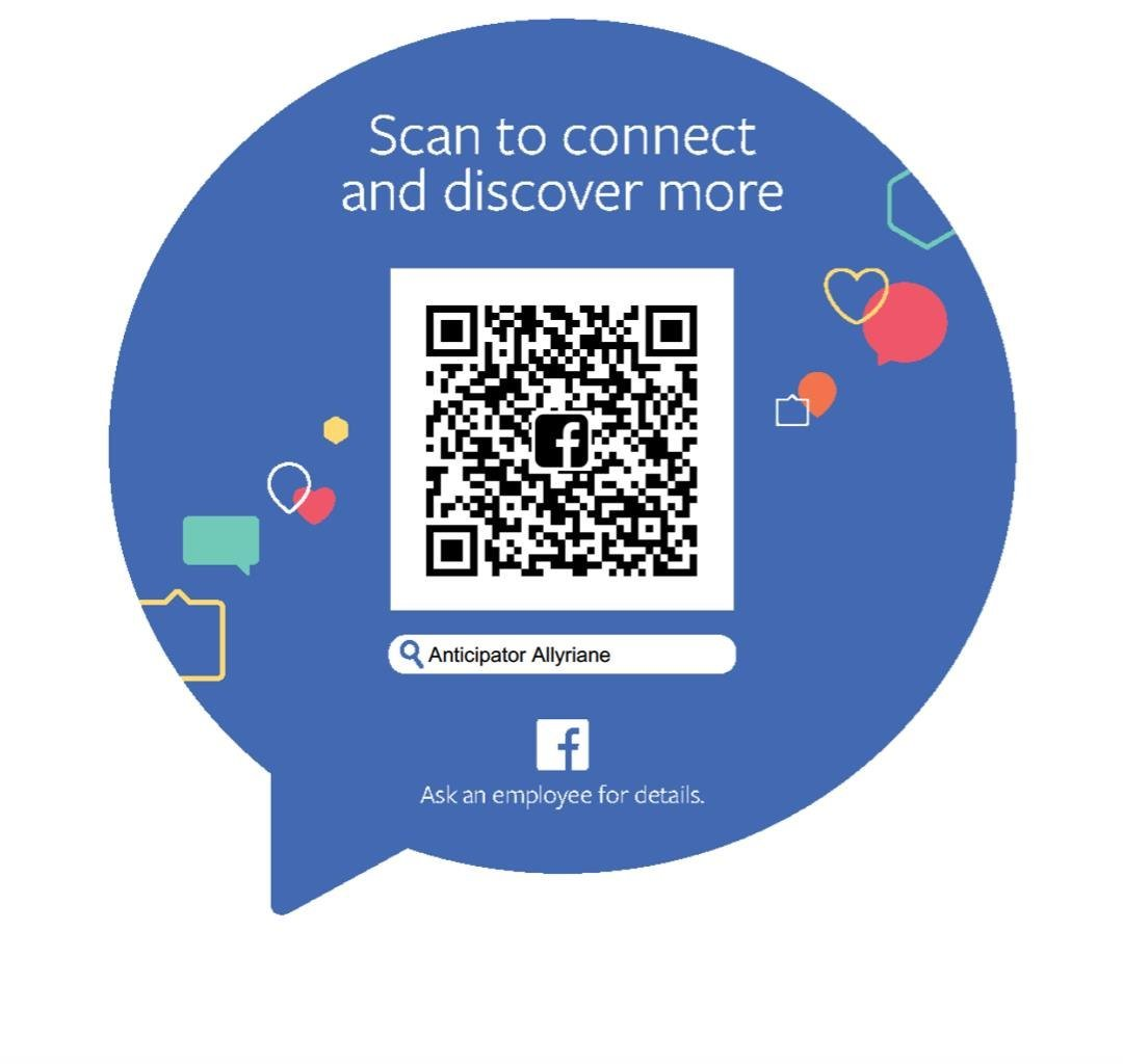Scan to connect and discover more Anticipator Allyriane Ask an employee for details.  text,product,product,font,communication