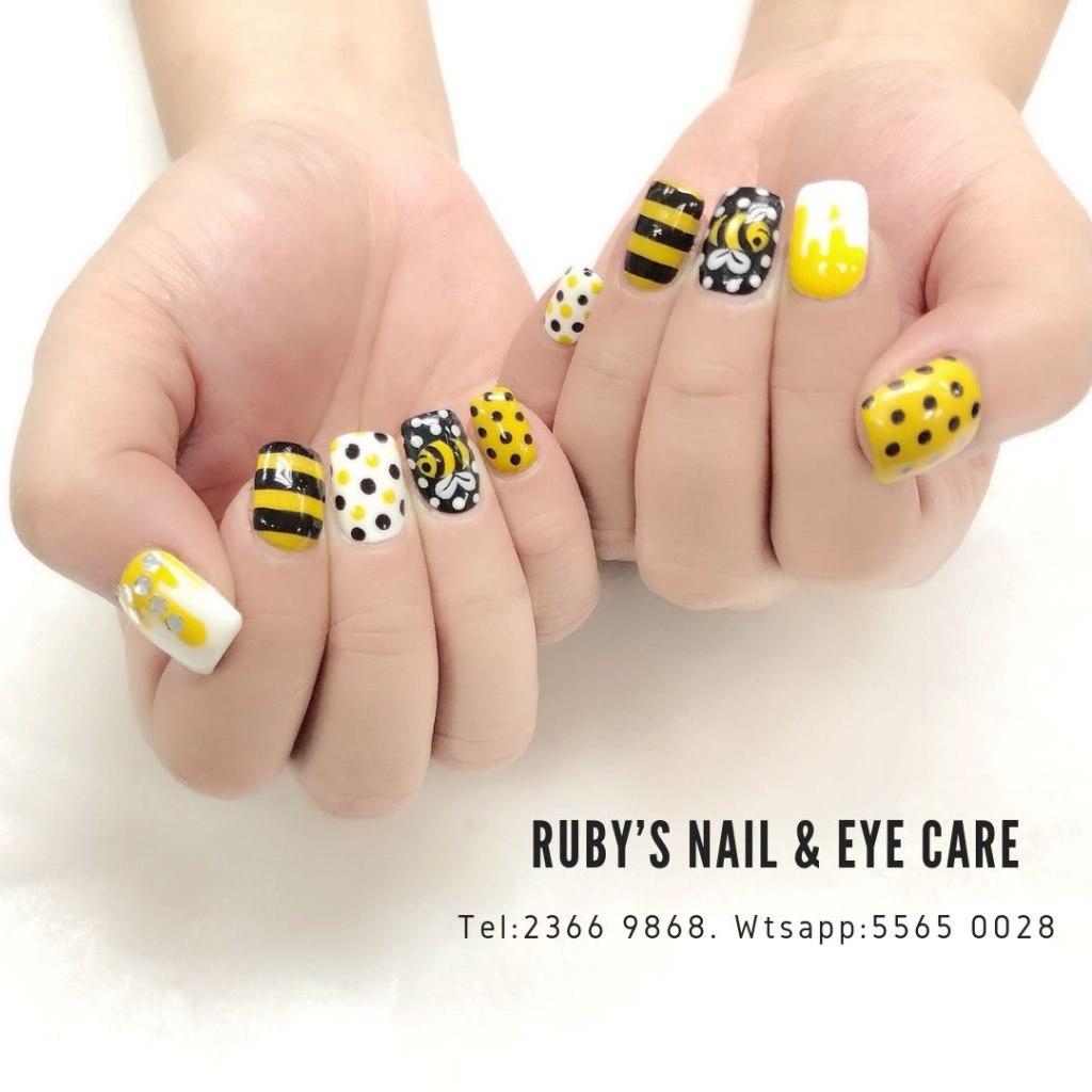 RUBY'S NAIL & EYE CARE Tel: 2366 9868. Wtsapp:5565 0028,finger,nail,yellow,hand,nail care