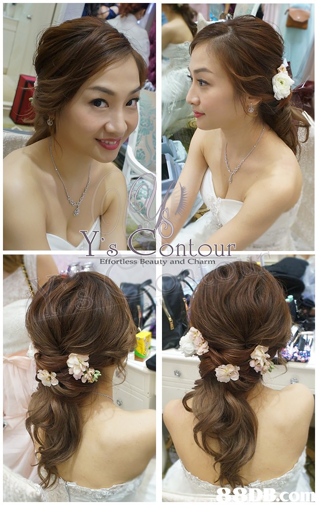 s ontour Effortless Beauty and Charm  hair,hairstyle,flower,bride,hair accessory