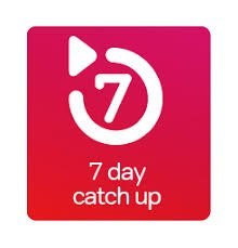 7 7 day catch up  text,sign,font,product,signage