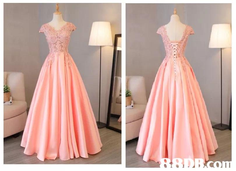 gown,dress,pink,cocktail dress,bridal party dress