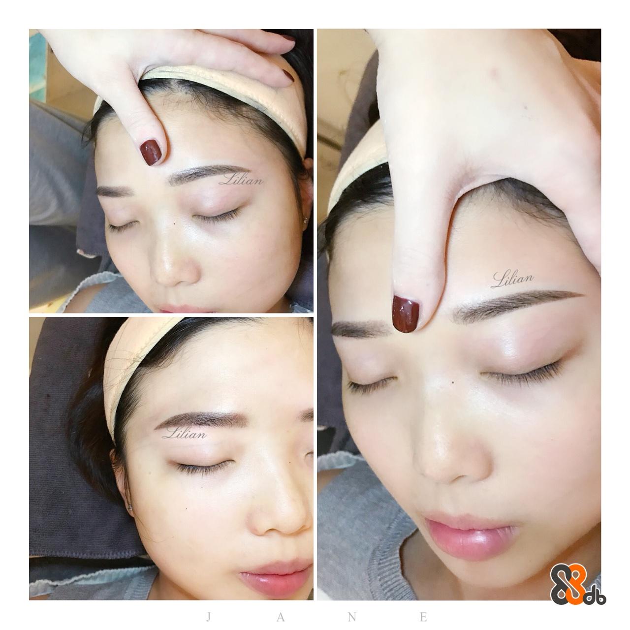 warn an an  eyebrow,face,skin,cheek,nose