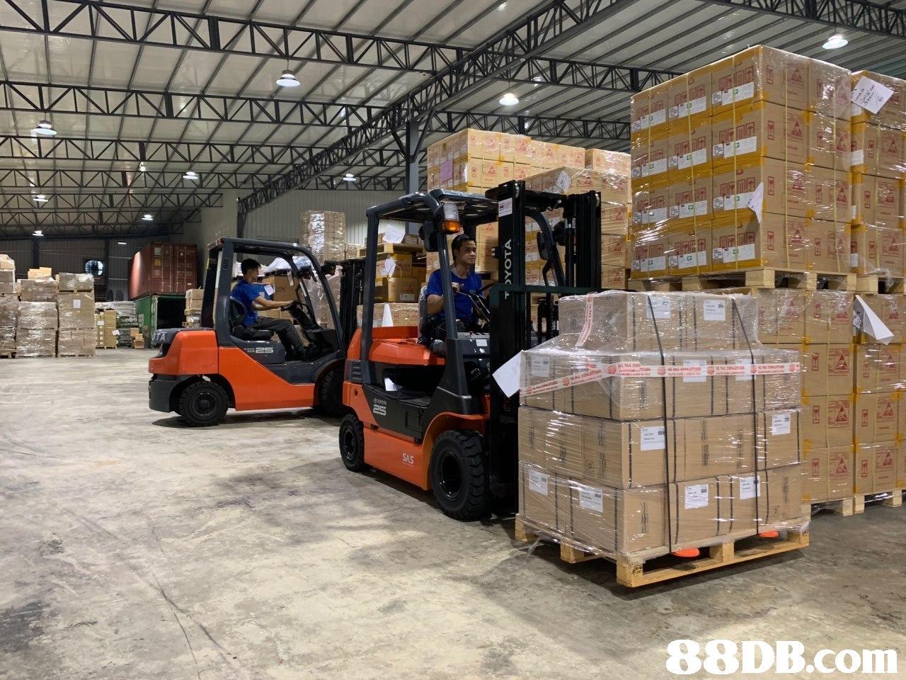 8DB.com  Warehouse,Forklift truck,Warehouseman,Transport,Inventory