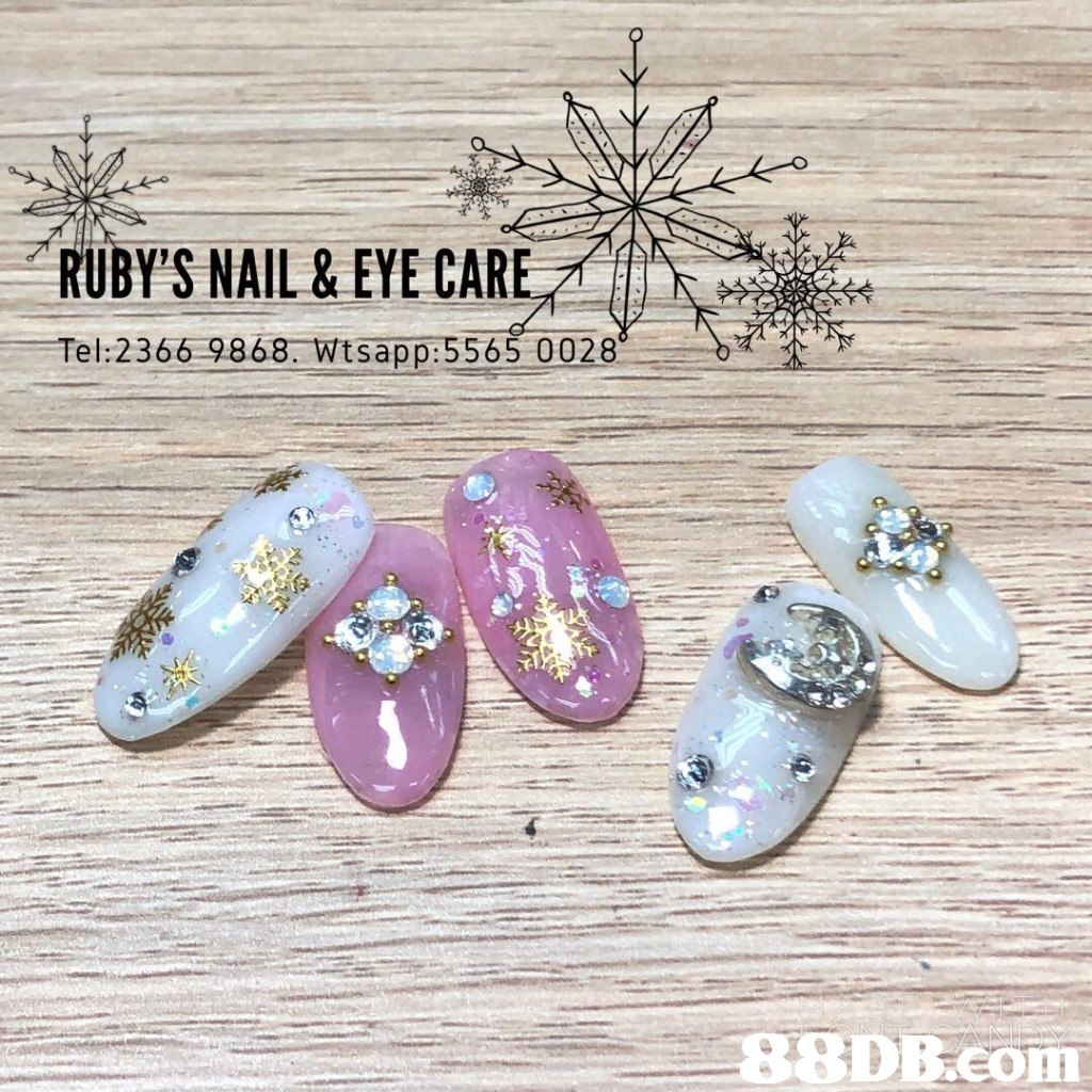 RUBY'S NAIL & EYE CARE Tel:2366 9868. Wtsapp:5565 0028   font,product,
