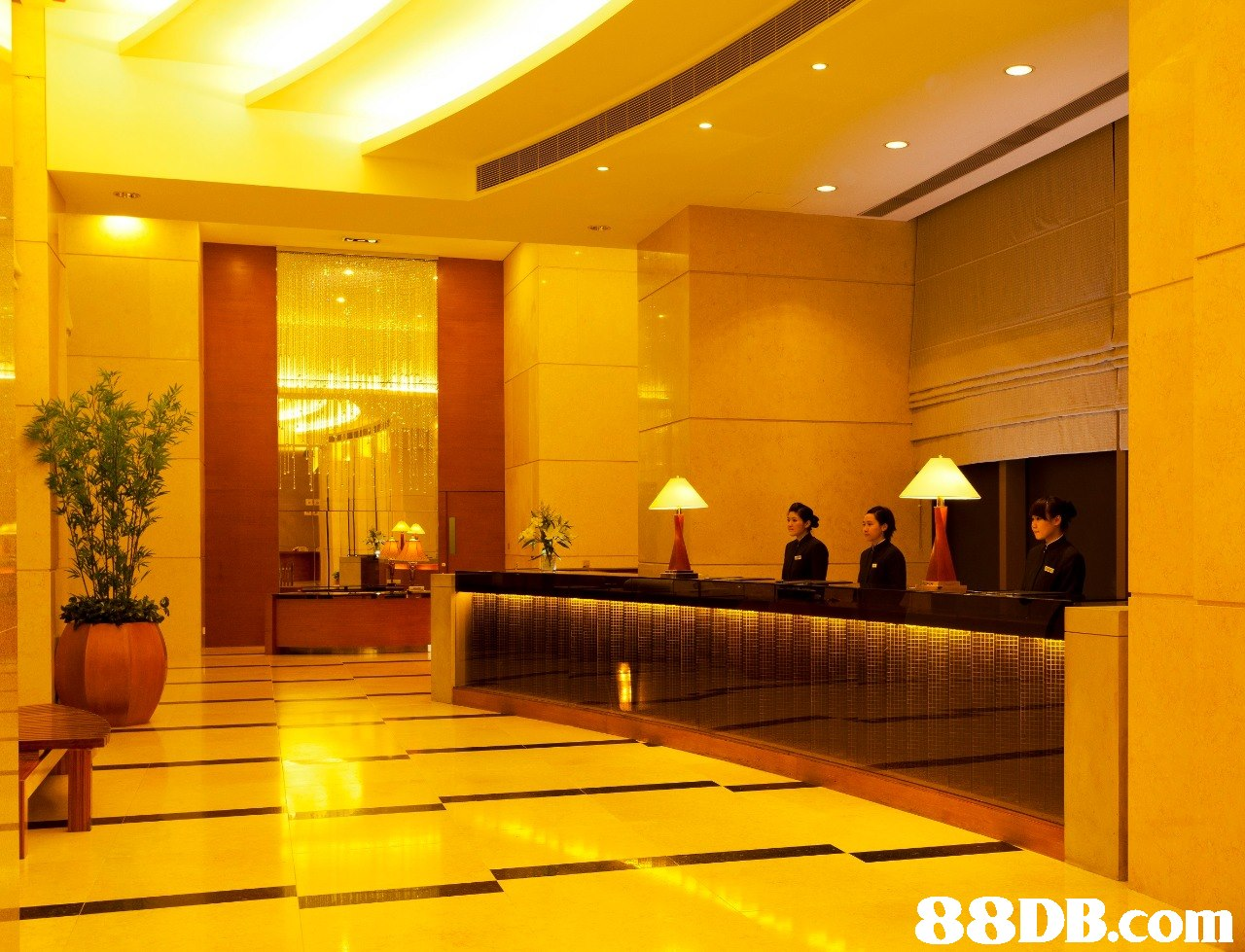 lobby,yellow,ceiling,interior design,function hall
