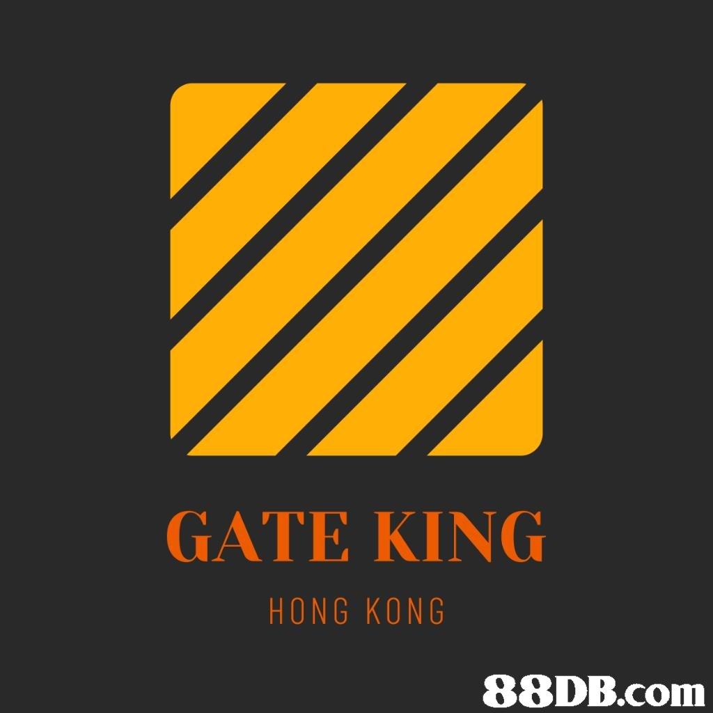 GATE KING HONG KONG   yellow,text,orange,font,logo