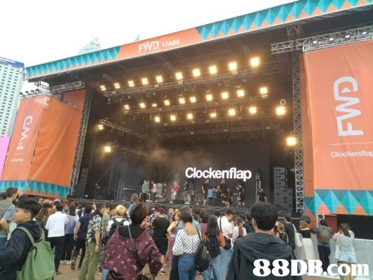 stage,structure,crowd,