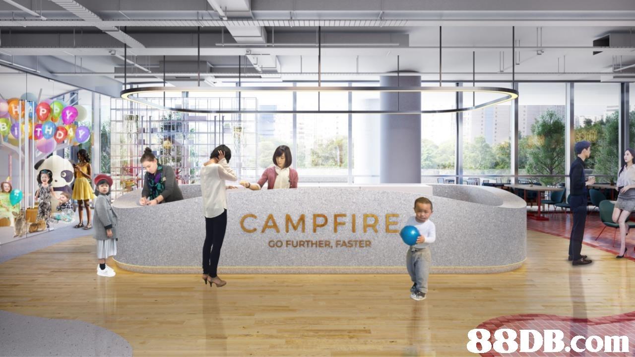 โร่ CAMPFIRE GO FURTHER, FASTER   lobby,interior design,leisure,