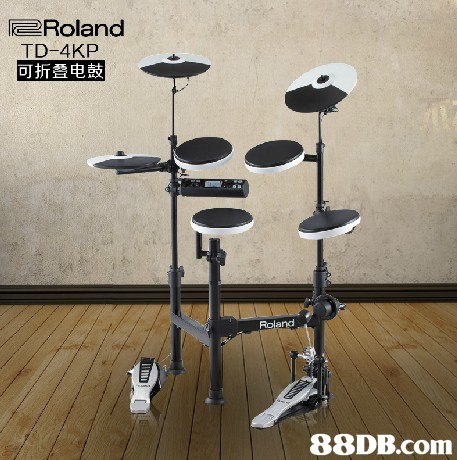 Roland TD-4KP 可折叠电鼓 Roland   drum,musical instrument,tom tom drum,drums,percussion accessory