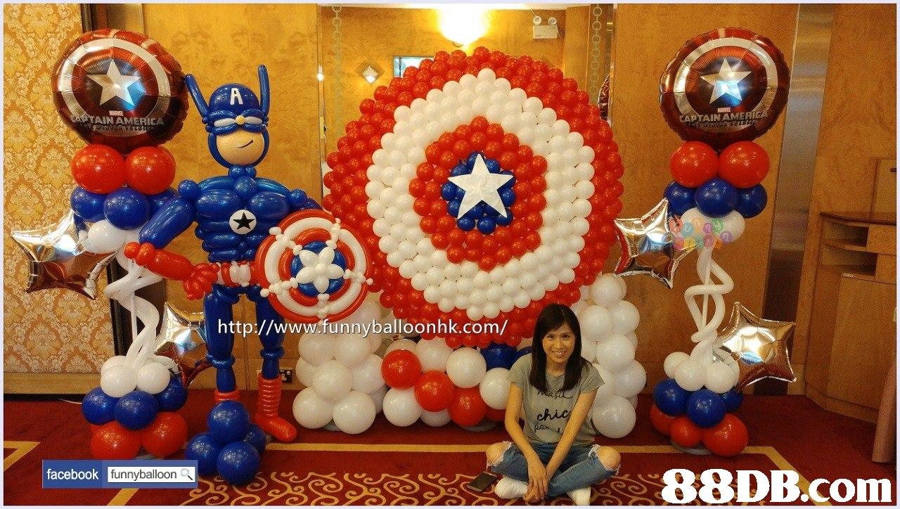 AIN AMERICA CAPTAIN AME http://www.funnyballoonhk.com/ facebook funnyballoon   balloon,toy,party supply