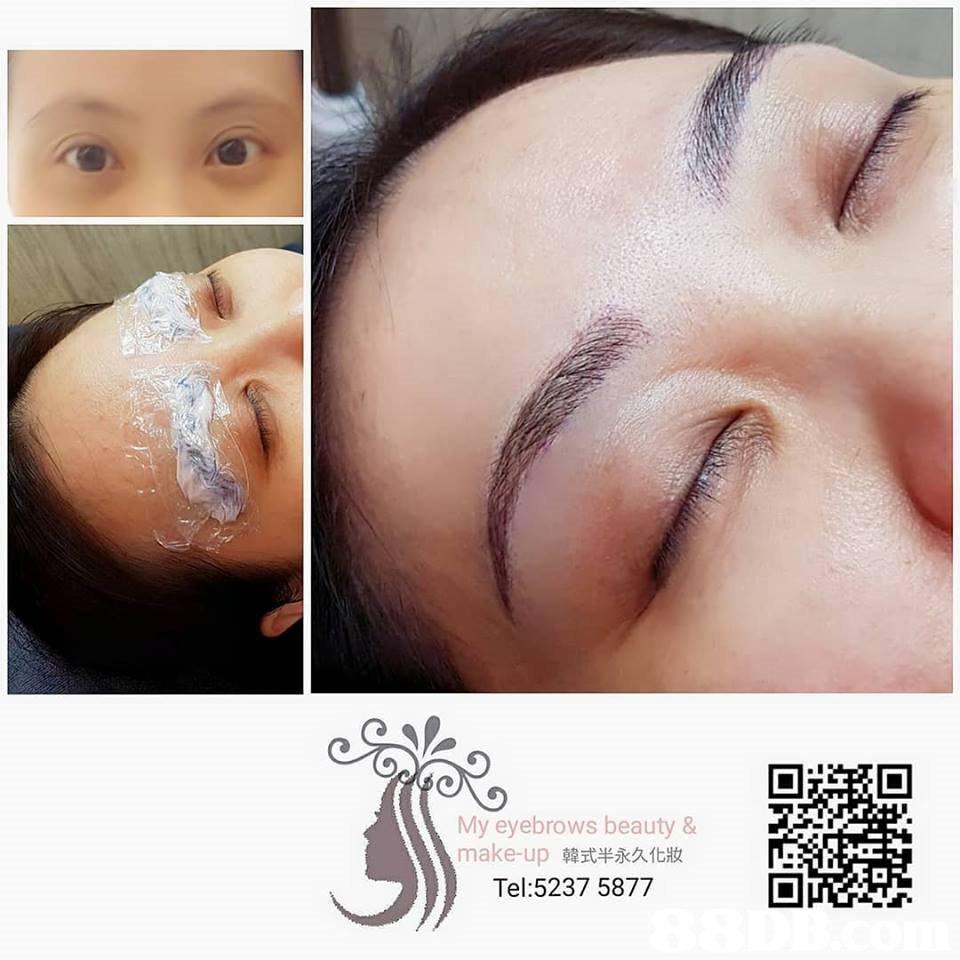 My eyebrows beauty & make-up韓式半永久化妝 Tel:5237 5877  eyebrow,face,skin,nose,cheek