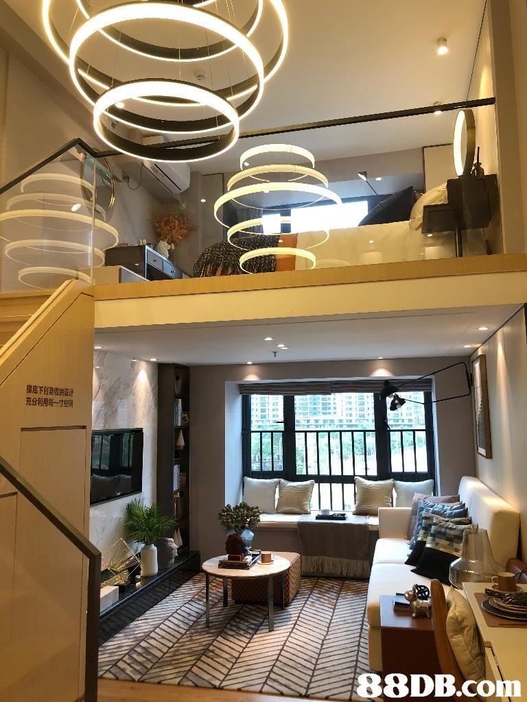 梯底下创意收纳设计 充分利用每一寸空伺   ceiling,interior design,living room,home,