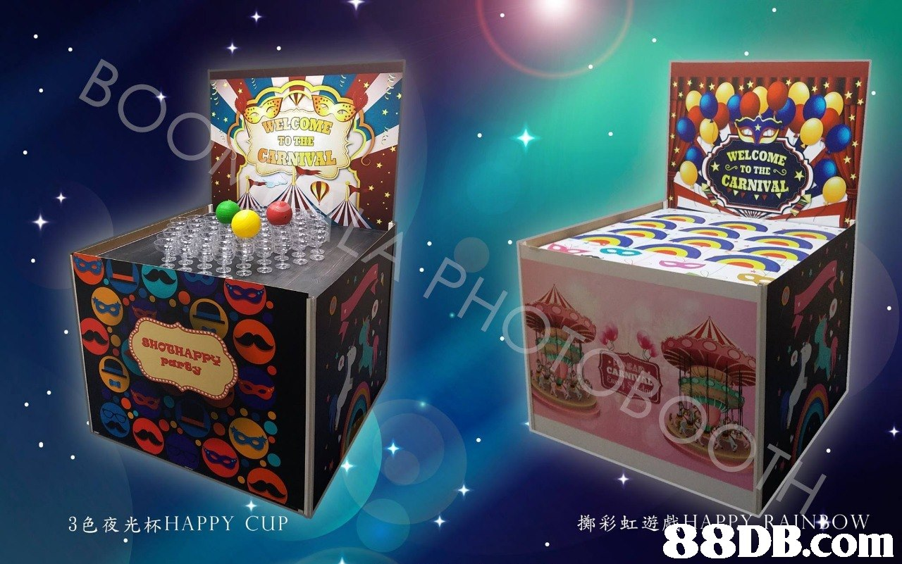 ELCOME TO THE WELCOME CARNIVAL 擲彩虹遊88DB26m 3色夜光杯HAPPY CUP  product