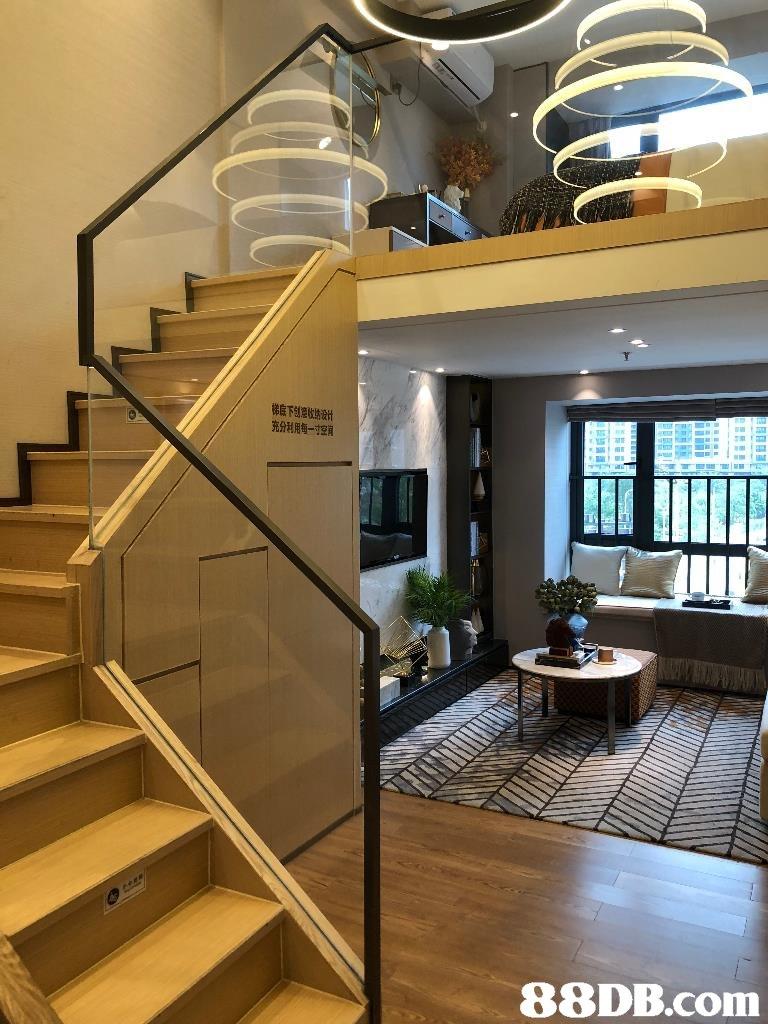 充分利用每一寸朗   stairs,interior design,handrail,lobby,condominium