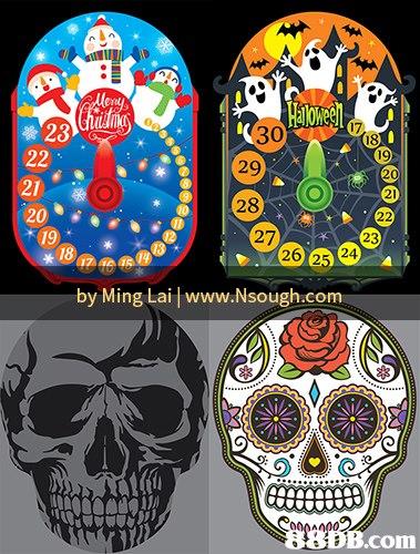 17 30 29 28 18 21 20 19 21 2 27 23 18 6 25 24 2 25 by Ming Lai www.Nsough.com 8B B.com  skull,bone,font,