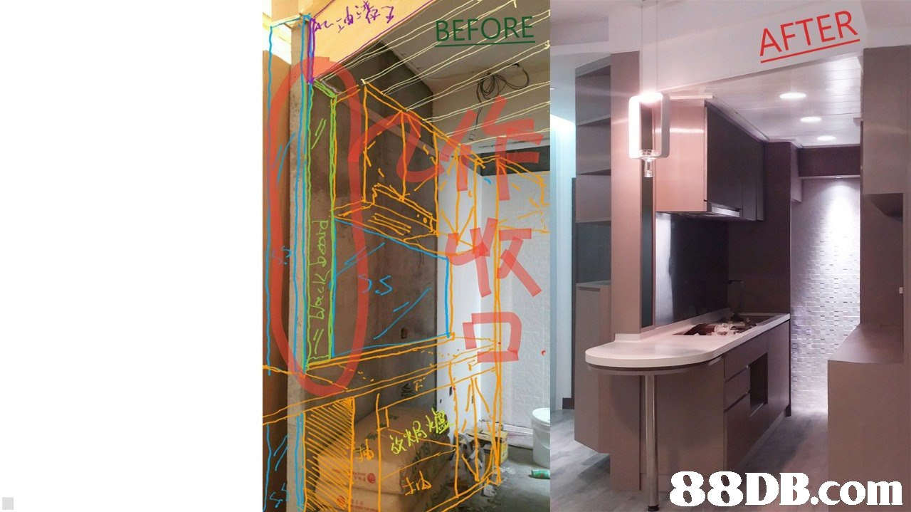 BEFORE AFTER   interior design,