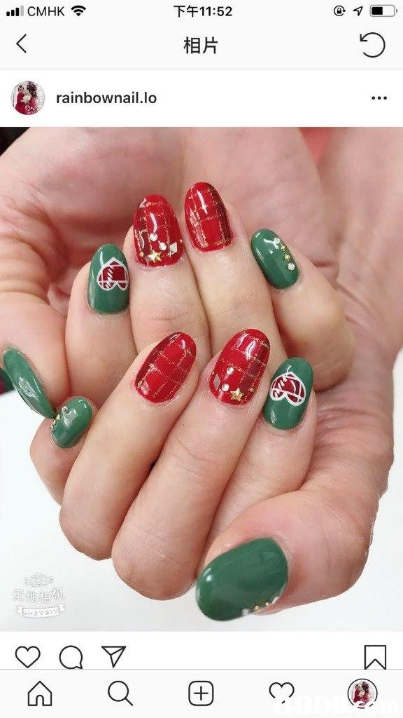 '11 CMHK令 下午11:52 相片 rainbownail.lo 无他相机  nail,finger,hand,nail care,manicure