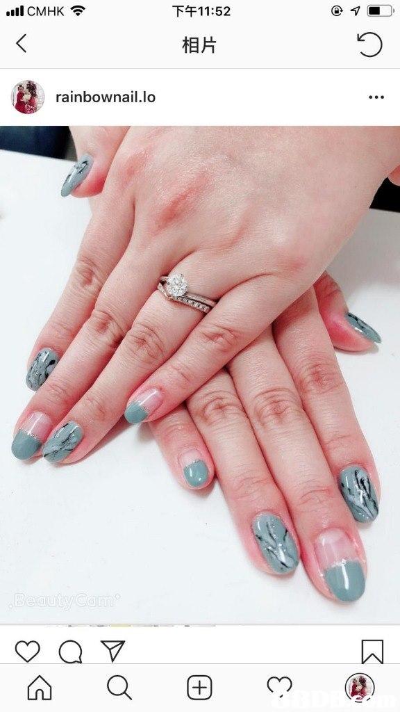 .ill CMHK令 下午11:52 相片 rainbownail.lo  finger,nail,hand,nail care,manicure