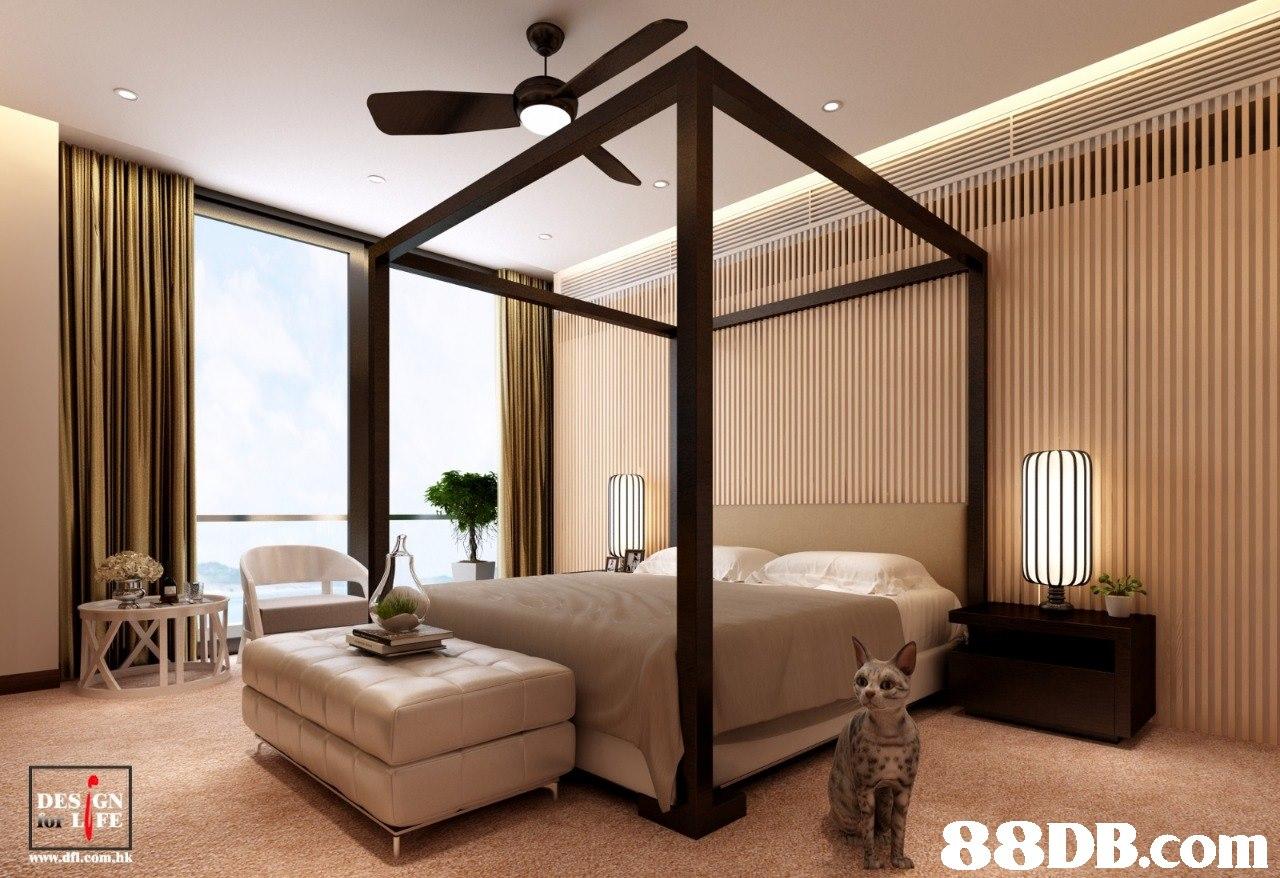 DES GN UT  www.dfi.com.hk  Ceiling,Bedroom,Room,Interior design,Furniture