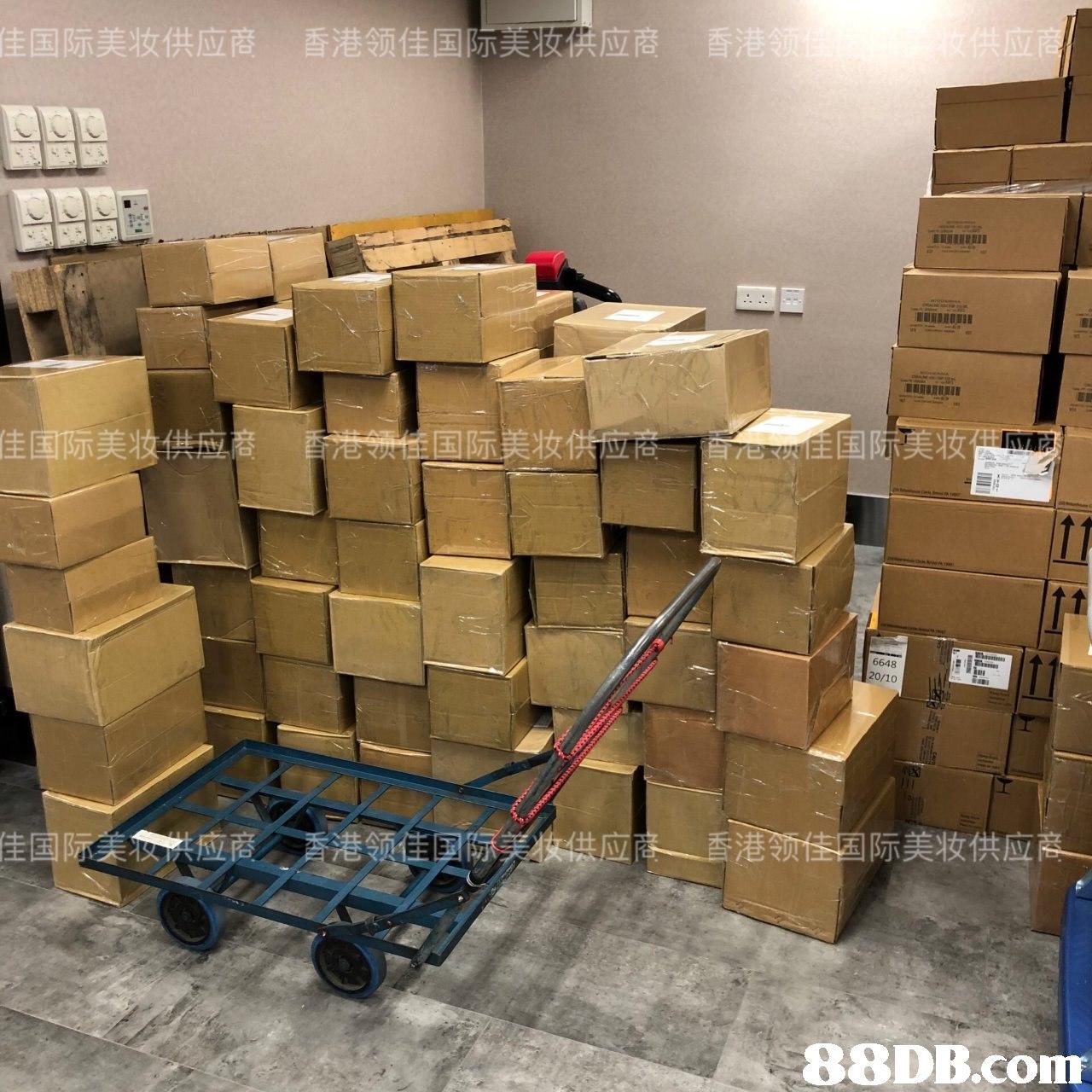 香港 佳国际美妆供应癢 香港领佳国际芙荍碘应賡 ETENU 佳国际美妆供 6648 20/10   Cardboard,Transport,Warehouse,Inventory,Box