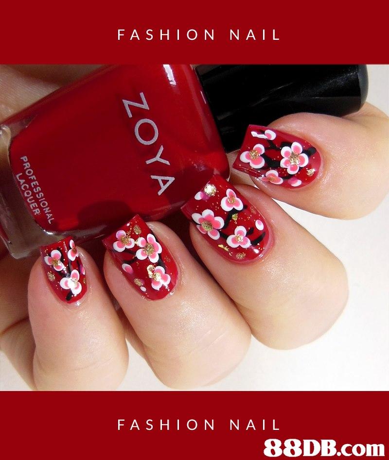 FASHION NAIL FASHION NAIL   Nail polish,Manicure,Nail,Nail care,Red
