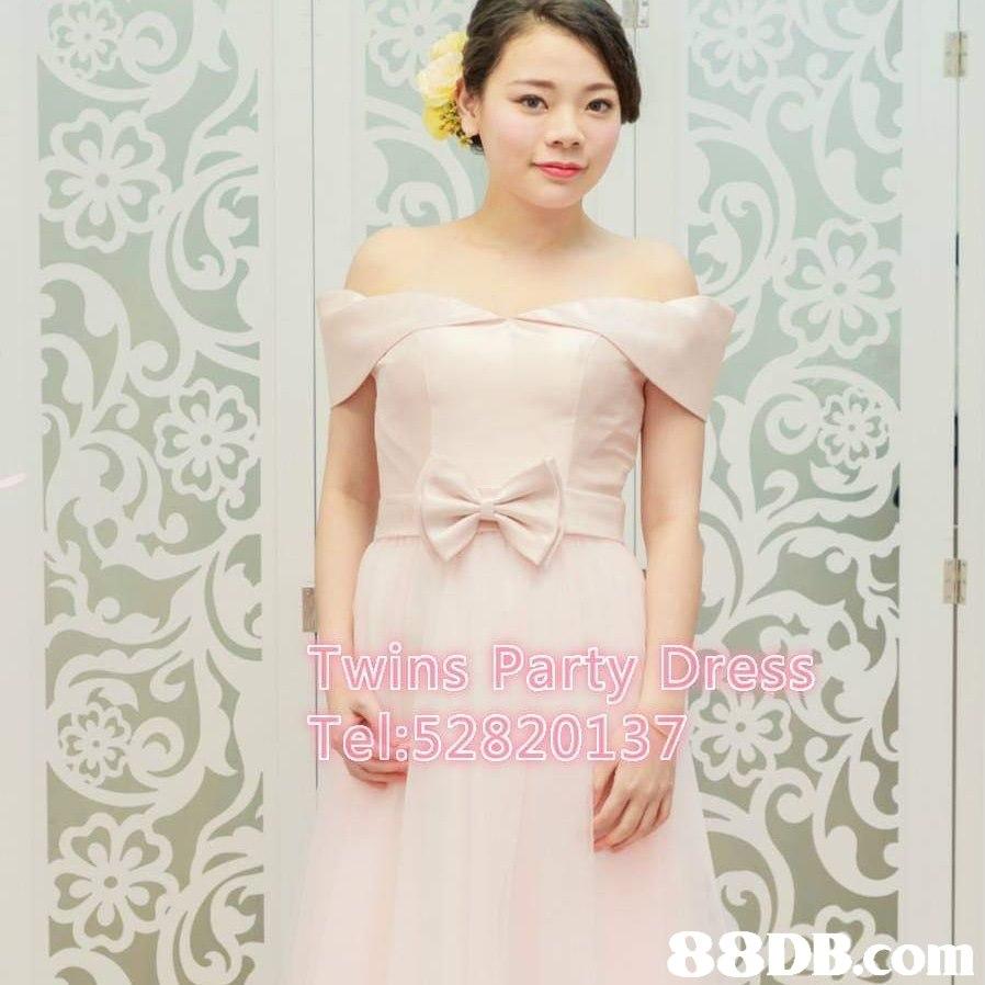 Twins Party Dress Tel:52820137 880B.com  Clothing,Dress,Shoulder,Gown,Strapless dress