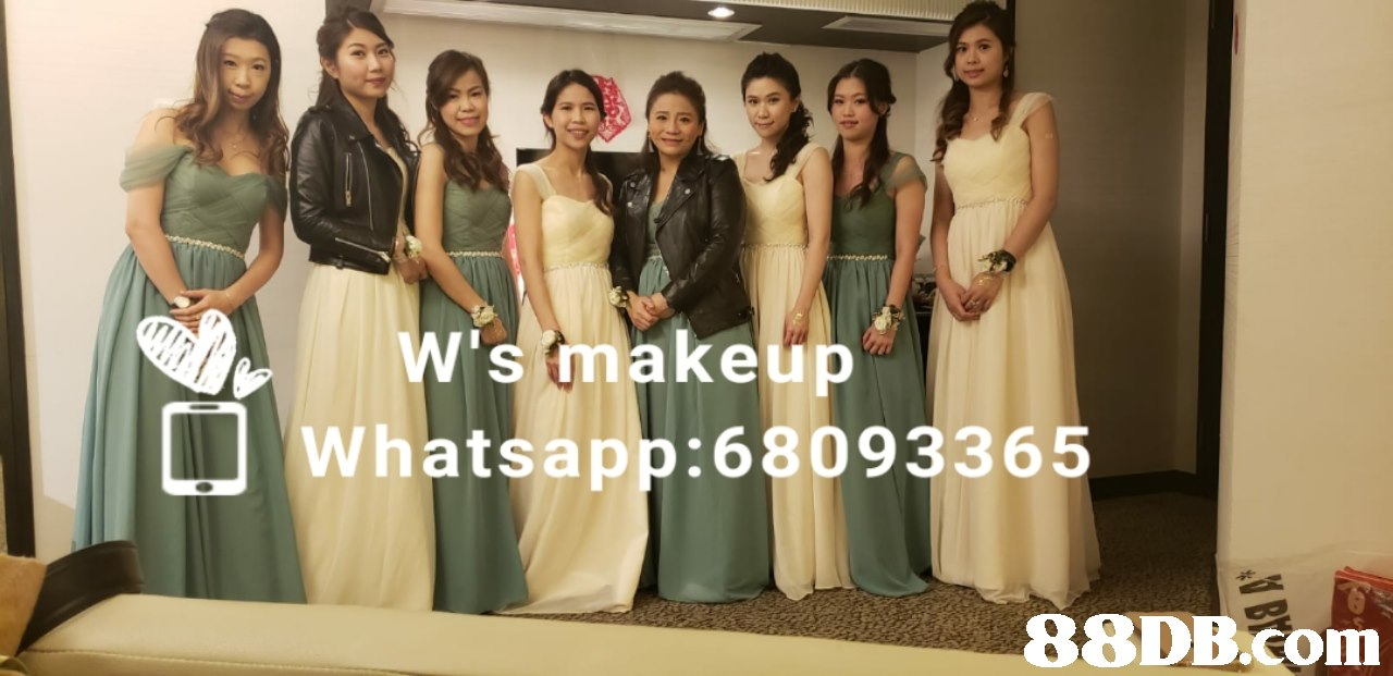 smakeup LI Whatsapp:68093365   Clothing,Dress,Formal wear,Shoulder,Bridesmaid