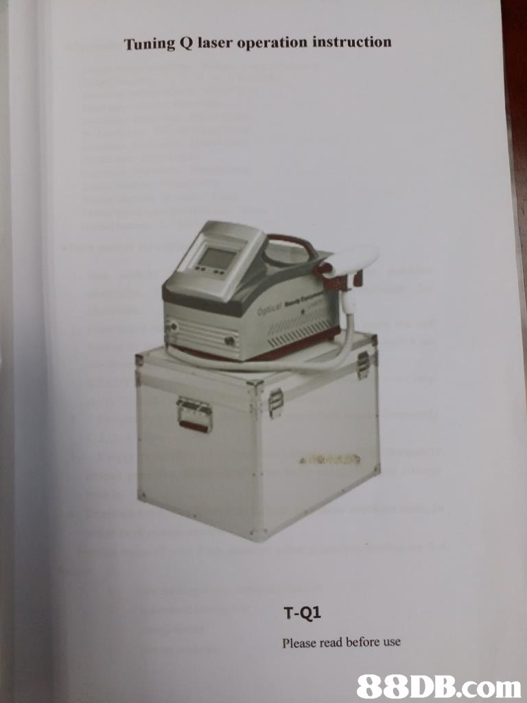 Tuning Q laser operation instruction T-Q1 Please read before use   Kitchen appliance