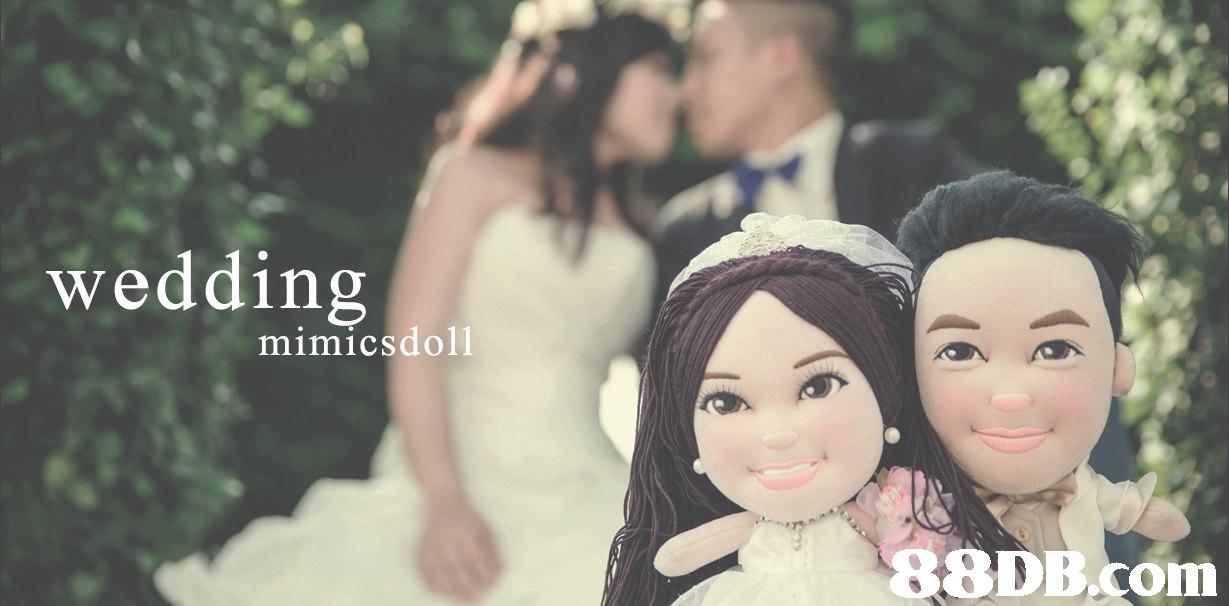 weddin mimicsdoll   Photograph,Headpiece,Veil,Dress,Bride