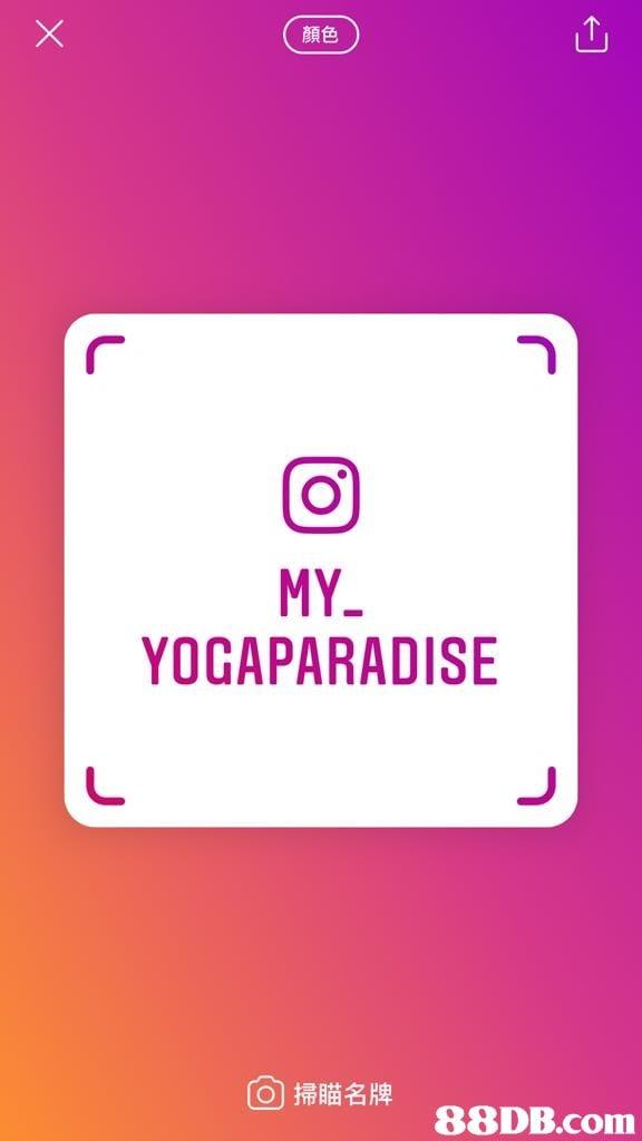 顏色 MY YOGAPARADISE 0掃瞄名牌   Text,Pink,Font,Magenta,Line