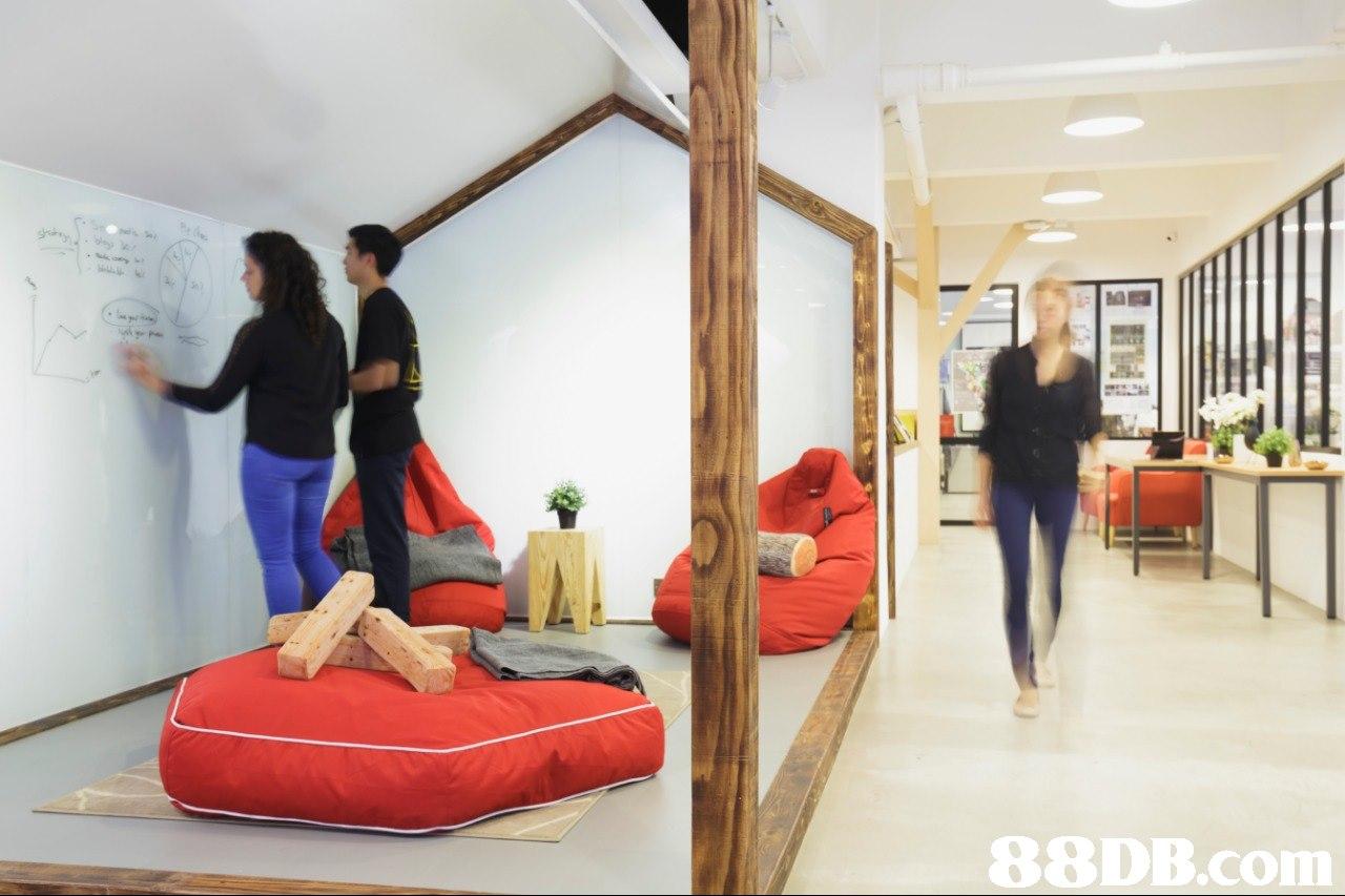 Red,Room,Furniture,Interior design,Bed