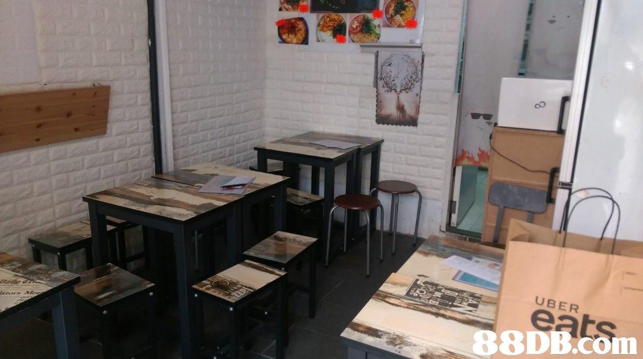 UBER eats   Room,Property,Furniture,Table,Building