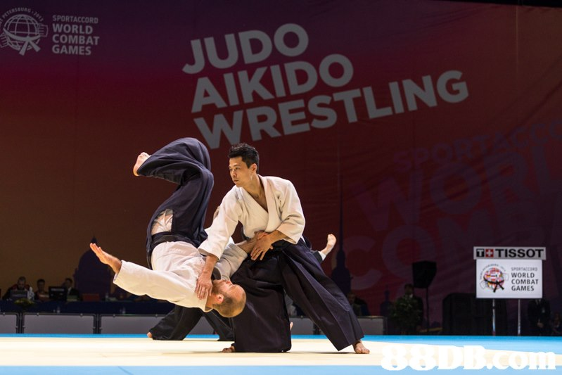 SPORTACCORD WORLD COMBAT GAMES JUDO AIKID WRESTLING 】 TISSOT 尿WORLD. COMBAT GAMES  Martial arts,Individual sports,Aikido,Sports,Contact sport