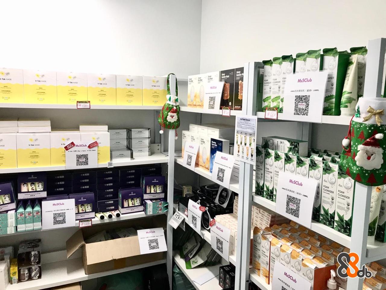 .Tok MASK CLEANSER CLEANSER CLE -tok MASK V-Tok MASK Ms5Club FOAM  Product,Retail,Building,Outlet store,Shelf