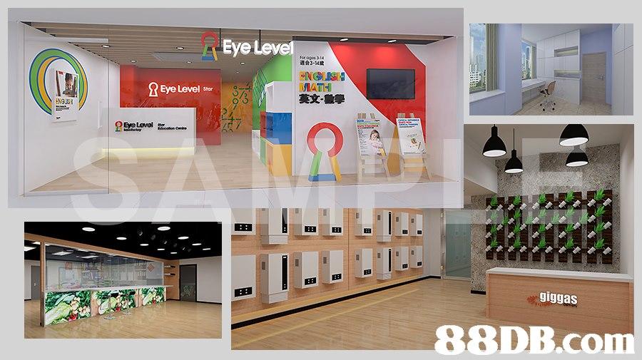 - Eye Lev 適合3-14歲 IAT 英文 Eye Level sar 田田 giggas,Shelf,Product,Interior design,Room,Architecture