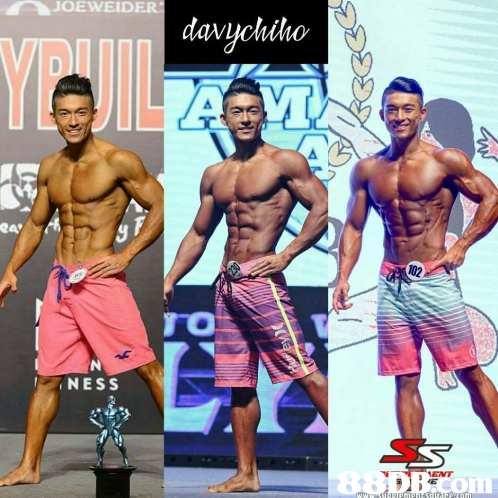 JOEWEID NESS ENT  Barechested,board short,Male,Bodybuilding,Muscle