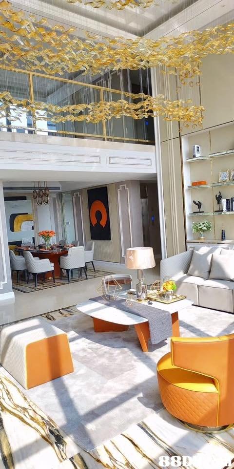 Room,Living room,Interior design,Property,Orange